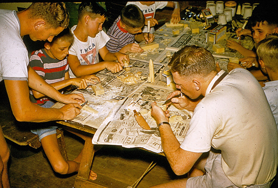 Camp-Warrawee---Craft-Session-Conducted-by-Alan-Holmes