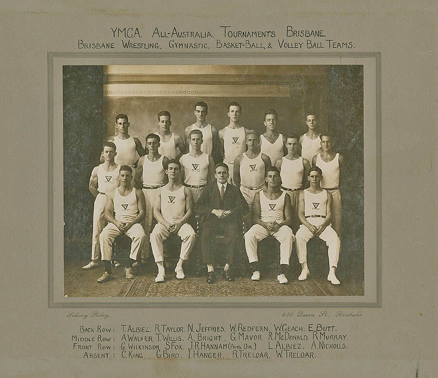 Sporting-Teams---All-Australia-Tournament-Brisbane---Brisbane-Wrestling,-Gymnastic,-Basketball-and-Volleyball-Teams---1927